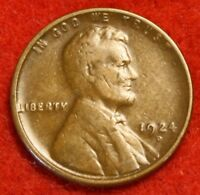 1924-D 1C LINCOLN WHEAT CENT PENNY VF COLLECTOR COIN CHECK OUT STORE LW1801