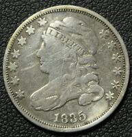 1835 CAPPED BUST SILVER DIME - CLEANED
