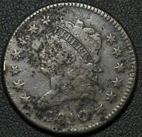 1810 CLASSIC HEAD LARGE CENT - GREAT HAIR DETAILS - ENVIRONMENTAL DAMAGE