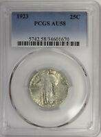 1923 STANDING LIBERTY QUARTER PCGS AU58 ALMOST UNCIRCULATED