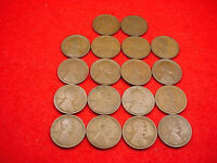1909 TO 1915 LINCOLN CENT 18 COIN SET INCLUDES SEMI-KEYS--GREAT SET  20