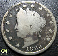 1883 WITH CENTS LIBERTY V NICKEL  --  MAKE US AN OFFER  R2738