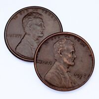 LOT OF 2 LINCOLN CENTS 1916-S AND 1917-S, EXTRA FINE  CONDITION, ALL BROWN COLOR