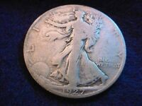 1927-S WALKING LIBERTY HALF DOLLAR  COIN   98