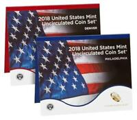 2018 US MINT UNCIRCULATED COMPLETE COIN SET  P & D   ALL 2018 COINS ALL 20 COIN