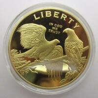 GOLD COIN LIBERTY EAGLE HEAD DOLLAR 10 NGC AMERICAN BRASS TYPE COLLECTION CRAFTS