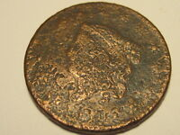 1816 CORONET HEAD LARGE CENT CORRODED DETAILS LOOK RECESSED