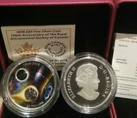 1868 2018 METEORITE SPIRIT ROYAL ASTRONOMICAL SOCIETY CANADA $20 1OZ SILVER COIN