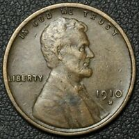 1910 S LINCOLN WHEAT CENT PENNY   REV DAMAGE