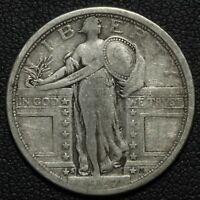 1917 S TYPE 1 STANDING LIBERTY SILVER QUARTER