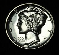 1941 PROOF MERCURY SILVER DIME   ABSOLUTELY GORGEOUS PROOF COIN