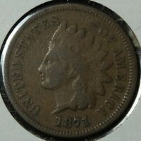 1871 INDIAN HEAD CENT PENNY   KEY DATE