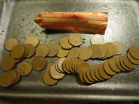 1944 ROLL OF CIRCS LINCOLN WHEAT CENTS    COMBINED SHIPPING