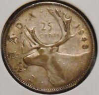 CANADA QUARTER   1943   KING GEORGE VI   $1 UNLIMITED SHIPPING