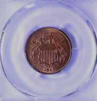1864 2C TWO-CENT PIECE LARGE MOTTO PCGS & CAC MINT STATE 65 RB 34401784