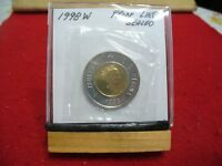 1998 W    CANADA 2$ TWO  DOLLAR  COIN  TOONIE  98W  PROOF LIKE  SEALED   AUCTION