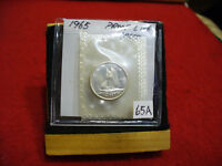 1965 CANADA SILVER DIME  10 CENTS TOP GRADE  65A  PROOFLIKE  SEALED  SEE PHOTOS
