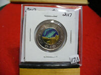 2017  CANADA  2$ TWO  DOLLAR  COIN  TOONIE  17A  COLORED  LIMITED EDITION  UNC.