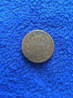 1864 TWO CENT COIN 2  MINTED 1864-1873