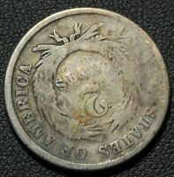 1864 ROTATED REVERSE ERROR COPPER TWO CENT PIECE