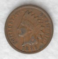 1896 1C BN INDIAN CENT VG [C0350] WILL COMBINE SHIPPING
