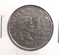 CIRCULATED 2004 1 PISO PHILIPPINE COIN