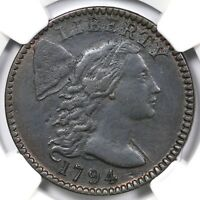 1794 S 67 R 3 NGC VF DETAILS LIBERTY CAP LARGE CENT COIN 1C