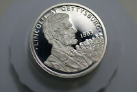 USA STATUE OF LIBERTY 1986 LINCOLN MEDAL SILVER PROOF CROWN SIZE A73 ZG13