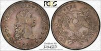 1795 $1 EARLY DOLLAR FLOWING HAIR 3 LEAVES -  VF25 PCGS PQ