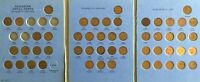 CANADA SMALL CENT COLLECTION IN ALBUM 52 COINS 1920 1972 MISSING KEY DATES