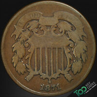 1871  2  TWO CENT  VG  GOOD  3609JU1