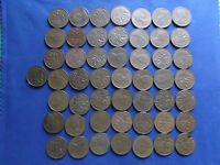 ROLL OF  50 1973 CANADA 1 CENTS AVERAGE CIRCULATED CONDITION.
