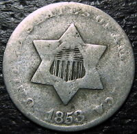1853 3 CENT SILVER PIECE  --  MAKE US AN OFFER  R5278