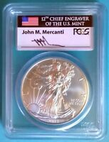 2015 W MERCANTI SIGNED FDOI FIRST DAY OF ISSUE DENVER SILVER EAGLE PCGS SP70