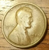 1909 LINCOLN WHEAT CENT PENNY GOOD CONDITION