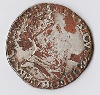 1550 CONTEMPORARY HENRY II TESTON LY  SILVER PLATED OVER COPPER PIECE