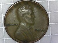 1941 WHEAT PENNY  GREASE FILLED DIE  REVERSE