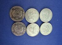 20 CENT SINGAPORE COIN   LOT OF 6  COINS