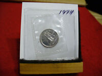 1974 CANADA  DIME  10 CENTS    TOP GRADE  74  PROOF LIKE  SEALED  SEE PHOTOS