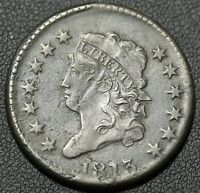 1813 CLASSIC HEAD EARLY COPPER LARGE CENT - BEAUTIFUL DETAILS