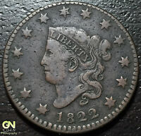 1822 CORONET HEAD LARGE CENT --  MAKE US AN OFFER  Y2334