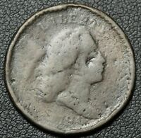 1794 LIBERTY CAP FLOWING HAIR COPPER HALF CENT