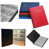 NEW POCKETS STORAGE CHIC HOT 120 COIN COLLECTION COIN HOLDER ALBUM BOOK