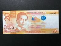 PHILIPPINES 20 PESOS NGC 2015A FIRST SERIAL KT000001