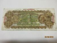 AUSTRALIA 10 SHILLING HALF SOVEREIGN 1928 RIDDLE HEATHERSHAW PAPER NOTE BANKNOTE