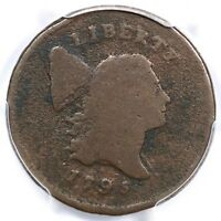 1795 C-2A R-3 PCGS G DETAILS PUNCTUATED DATE LIBERTY HALF CENT COIN 1/2C