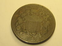 1872 TWO CENT PIECE FINE KEY DATE