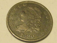 1830 CAPPED BUST HALF DIME EXTRA FINE