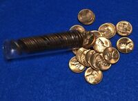 1956 D LINCOLN WHEAT CENT ROLL   RED GEM BU BLAZERS       50 COINS