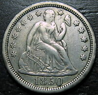 1850 P SEATED DIME  --  MAKE US AN OFFER  R5303